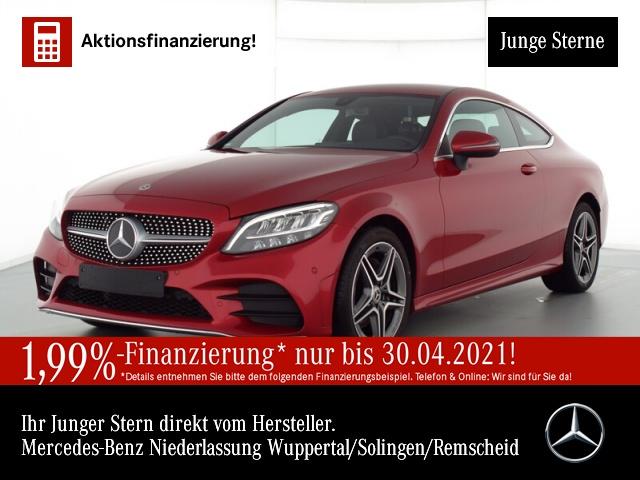 Mercedes-Benz C 180 Cp. AMG LED Kamera PTS Sitzh Sitzkomfort, Jahr 2019, Benzin