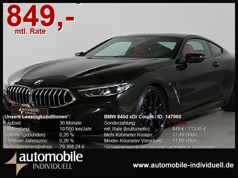 BMW 840d xDr Coupé M Sportpaket Laser H&K ACC 20Zoll, Jahr 2020, Diesel
