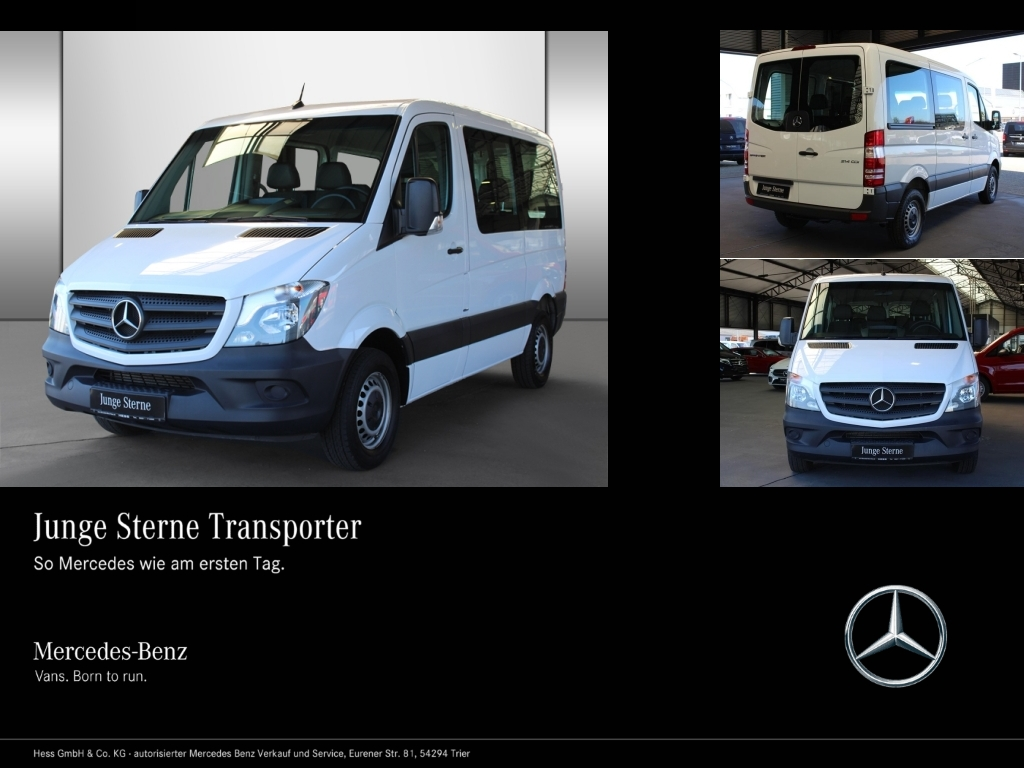 Mercedes-Benz Sprinter 214 KOMBI/TOURER+KOMPAKT+9-SITZE+EU6, Jahr 2016, Diesel