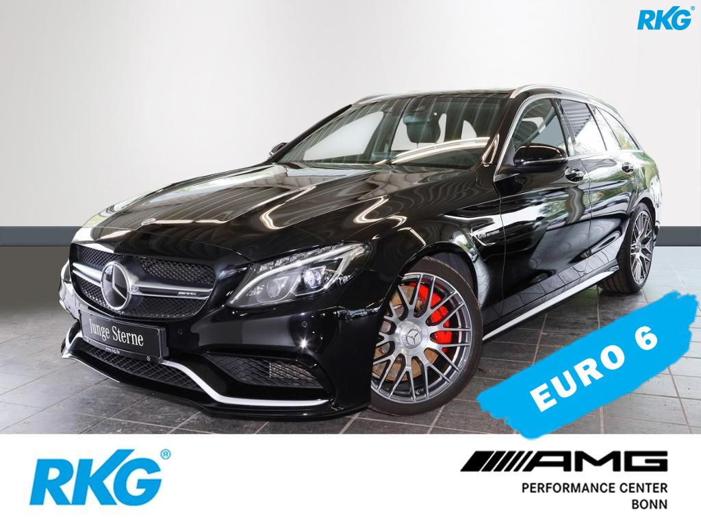 Mercedes-Benz C 63 AMG S T Drivers Package*Comand*Panoramadach, Jahr 2017, petrol