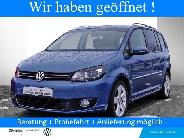 Volkswagen Touran 1.4 TSI Highline 7-Sitzer Dyn. Kurvenlicht Parklenkass. Panorama AHK-abnehmbar, Jahr 2013, Benzin