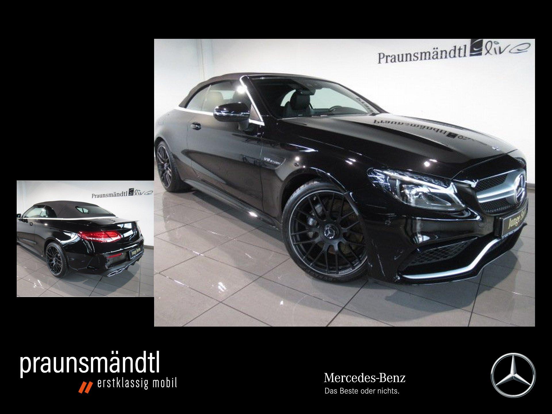 Mercedes-Benz C 63 AMG Cabrio Comand/Sound/Pferf.AbGas/LED/19, Jahr 2017, Benzin