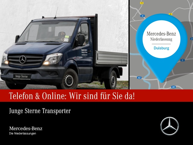 Mercedes-Benz Sprinter 313 CDI Pritsche Kompakt 3-Sitzer AHK, Jahr 2015, Diesel