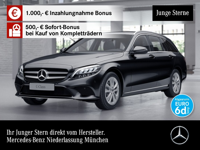 Mercedes-Benz C 180 T Avantgarde LED Kamera Spurhalt-Ass SpurPak, Jahr 2019, Benzin