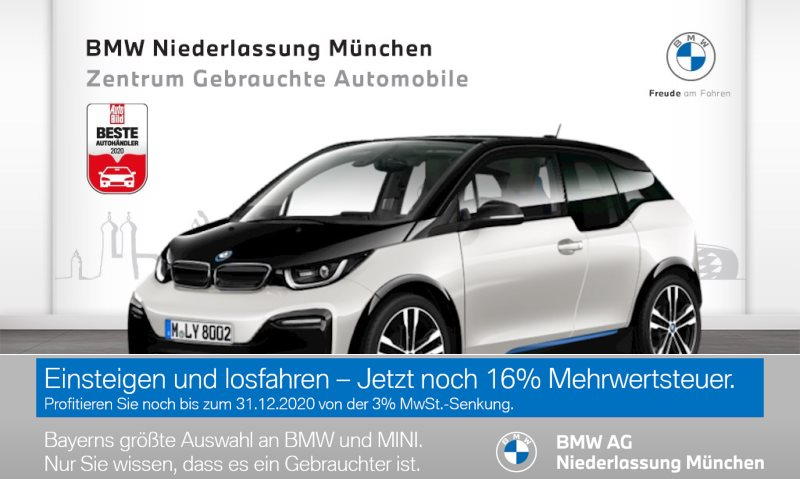 BMW i3 S 120 Ah HK HiFi GSD Navi Bus. RTTI Wärmep., Jahr 2019, Elektro