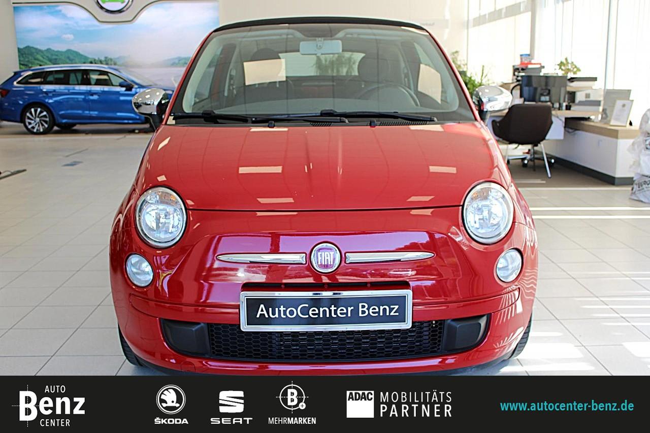 Fiat 500 Cabrio Pop *BLUE & ME *PARKSENSOREN *ALU, Jahr 2012, Benzin