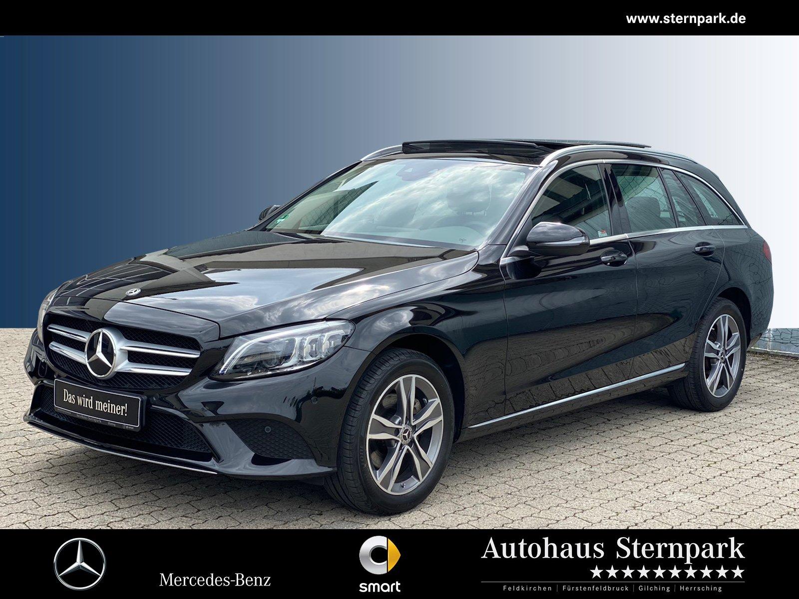 Mercedes-Benz C 200 4M T-Avantgarde Comand+Pano+Kamera+LED+AHK, Jahr 2019, Benzin