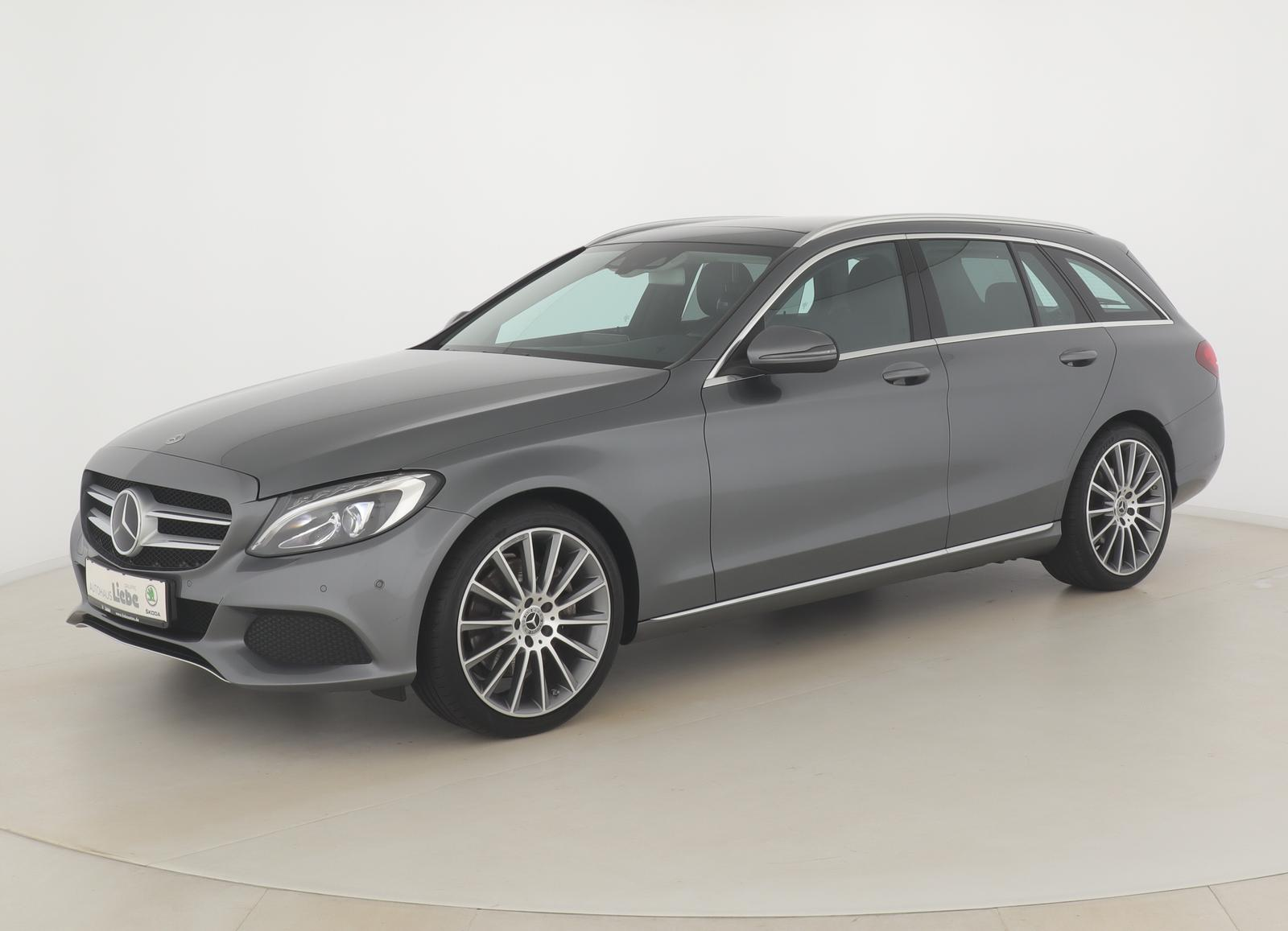 "Mercedes-Benz C 300 T-MODELL AUT. PANO|19""AMG|NAVI|LED|PDCuvm, Jahr 2017, petrol"
