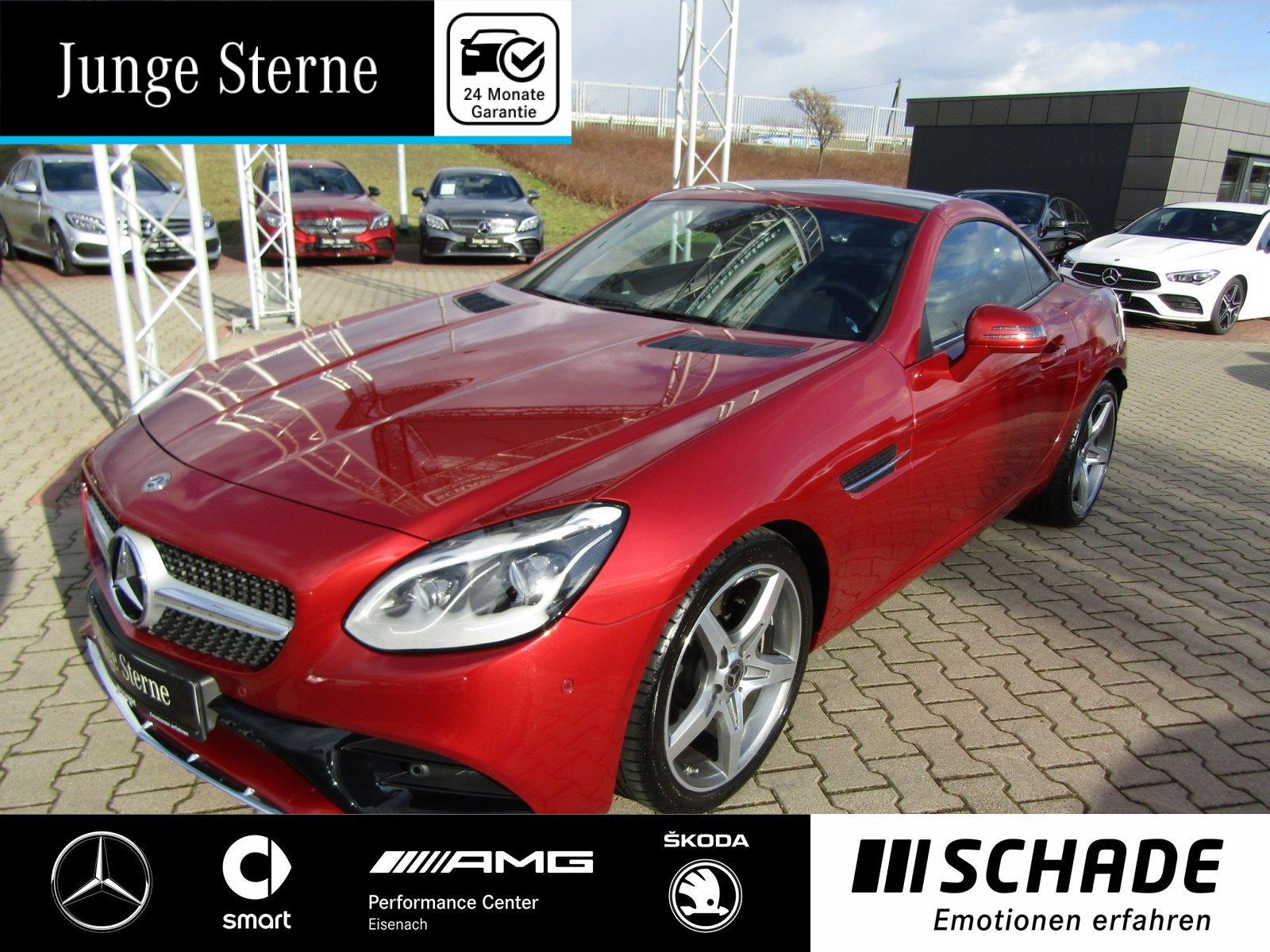 "Mercedes-Benz SLC 300 AMG 18""AMG*Comand*Airscarf*Spur-P.*LED*, Jahr 2018, petrol"