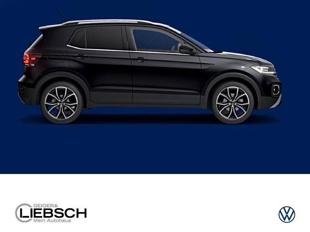 Volkswagen T-Cross Black Style 1.0 TSI DSG LED Navi ACC Kamara Front Assist Verkehrszeichenerkennung 18 Zoll, Jahr 2021, Benzin