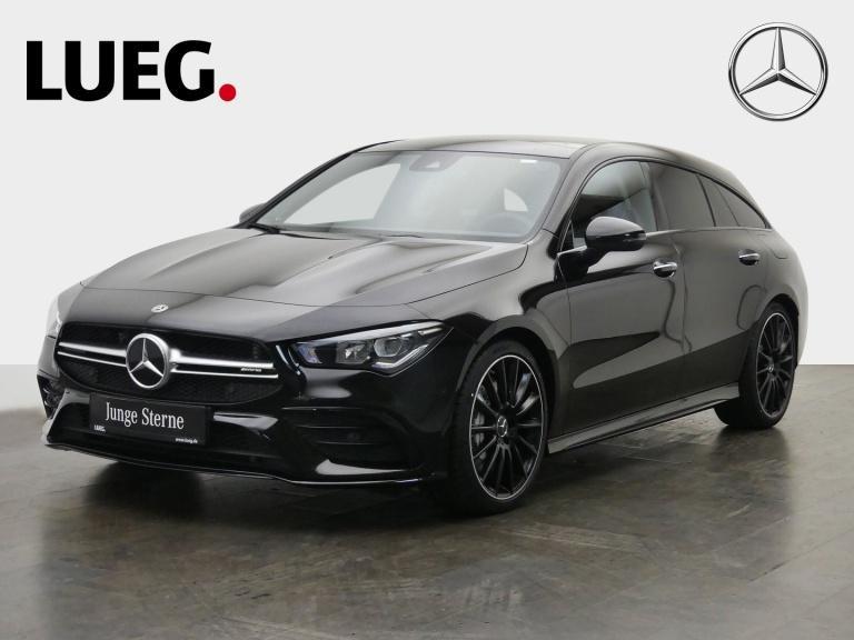 Mercedes-Benz CLA 35 AMG SB 4M MBUX+NavP+Pano+Burm+LED+Key+RFK, Jahr 2019, Benzin