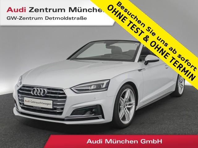 "Audi A5 Cabriolet 2.0 TDI Sport S line HUD ACC LED Leder Navi el.Sitze 19"" S tronic, Jahr 2017, diesel"