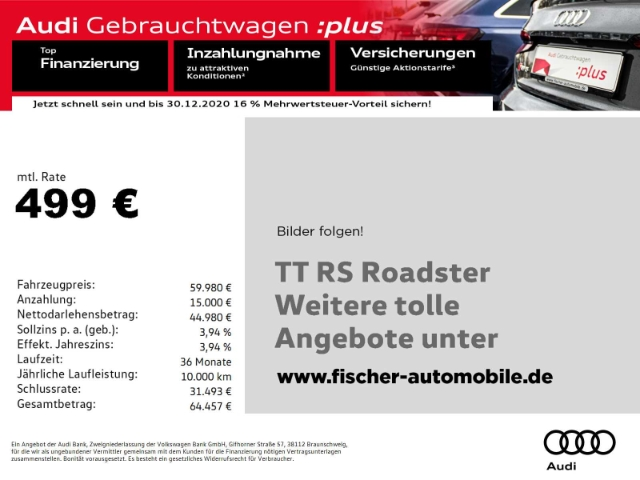Audi TT RS Roadster 2.5 TFSI quattro, Jahr 2019, Benzin