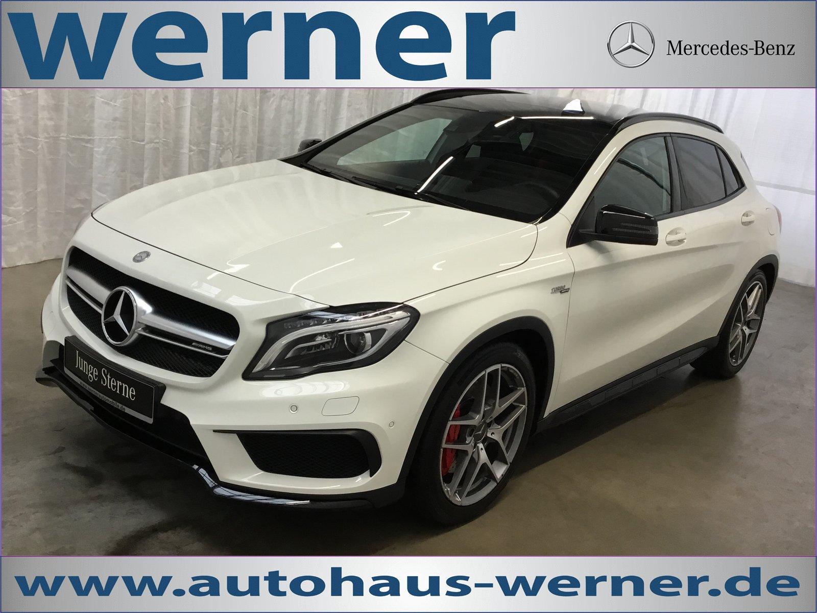 Mercedes-Benz GLA 45 AMG 4M Night Pano Comand Perfor-Abgas ILS, Jahr 2015, petrol