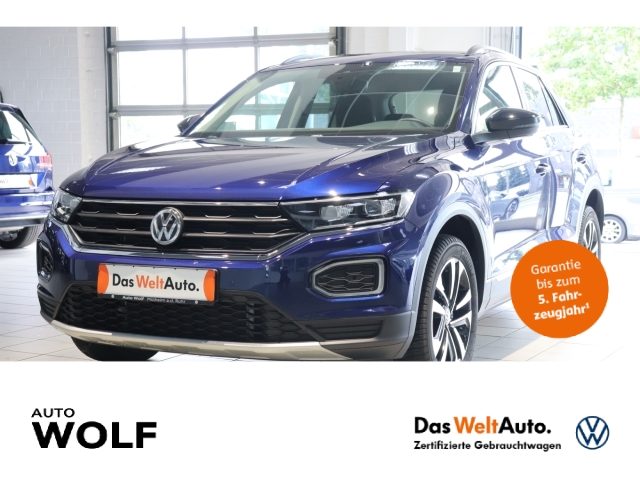 Volkswagen T-Roc United 1.5 TSI ACT EU6d-T LED Navi StandHZG ACC Rückfahrkam. Fernlichtass., Jahr 2020, Benzin