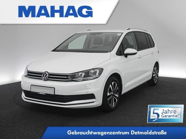 Volkswagen Touran UNITED 1.5 TSI 7-Sitzer Navi AppConnect Sitzhz. ParkPilot LightAssist FrontAssist 16Zoll DSG, Jahr 2020, Benzin