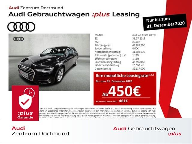 Audi A6 Avant sport 40TDI Navi+/Leder/DAB/AHK, Jahr 2019, Diesel