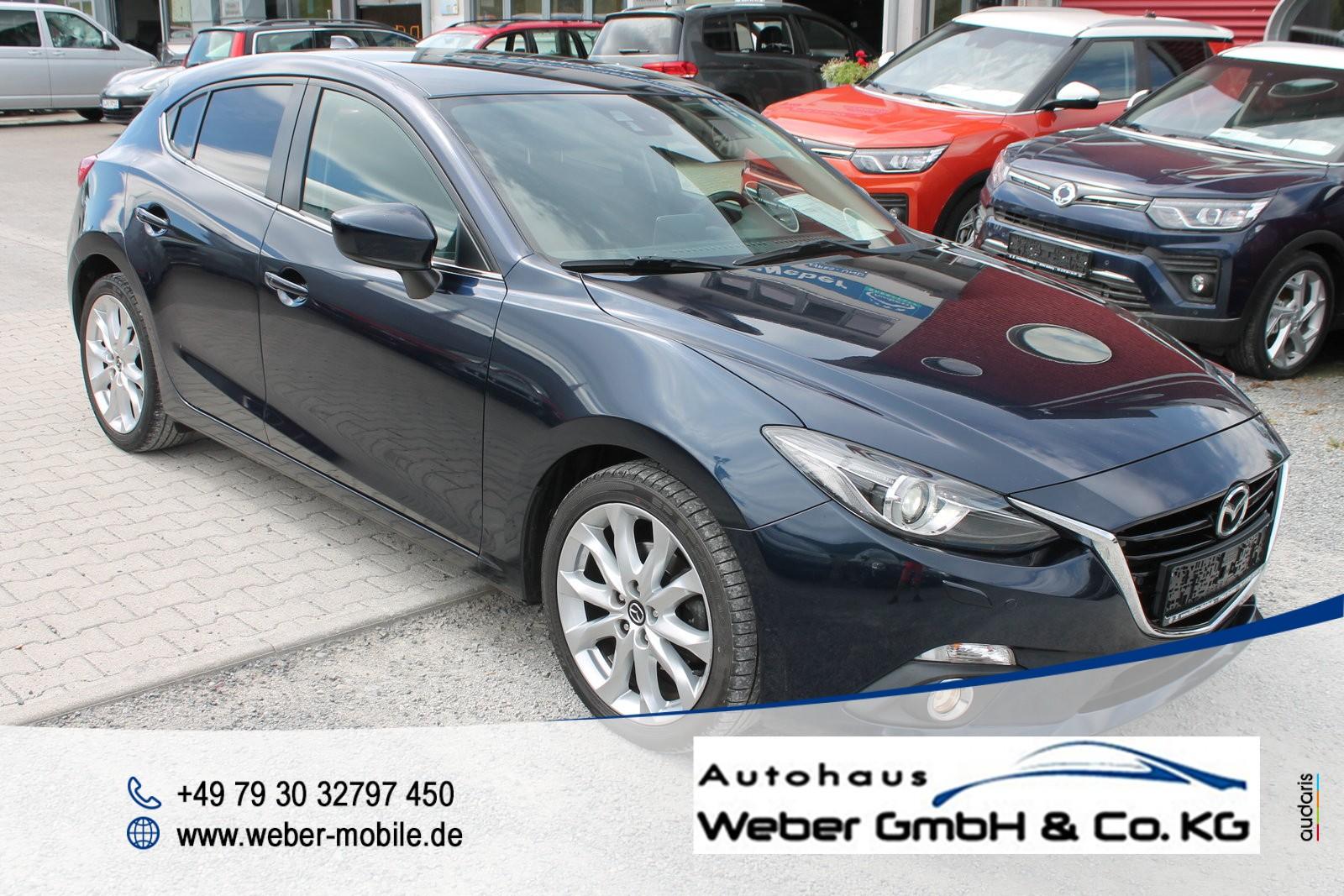 Mazda 3 Lim. *Sports-Line*Metallic*Einparkhilfe*XENON*Keyless*SHZ*, Jahr 2014, Diesel