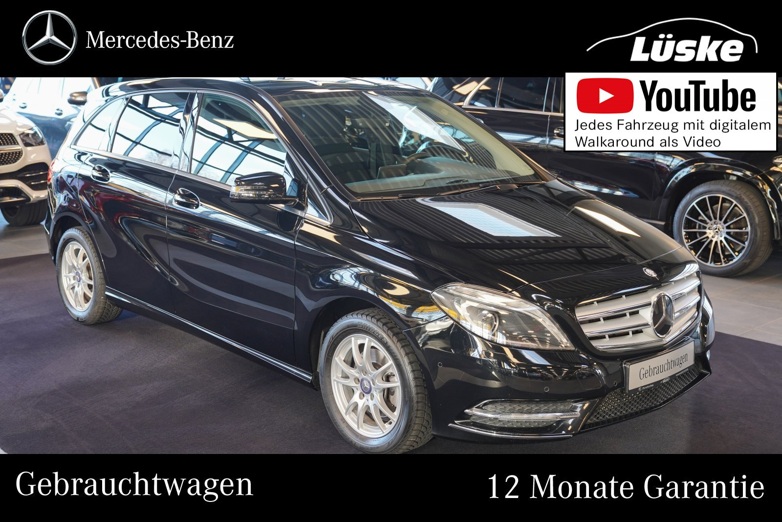 Mercedes-Benz B 200 Chrom-Paket Bi-Xenon Klimaautomatik PTS CD, Jahr 2013, Benzin
