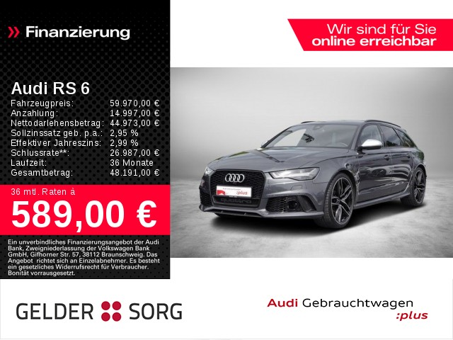 Audi RS 6 Avant 4.0 TFSI qu.performance *Matrix*DP+*, Jahr 2017, Benzin