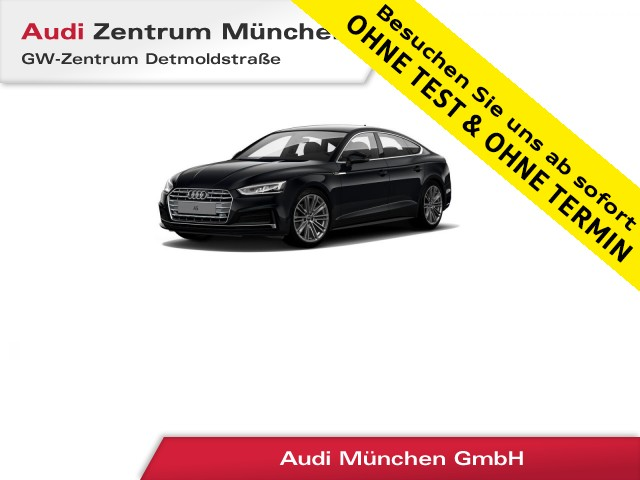 "Audi A5 Sportback 2.0 TFSI Sport S line B&O Virtual LED Navi 19"" PhoneBox S tronic, Jahr 2018, petrol"