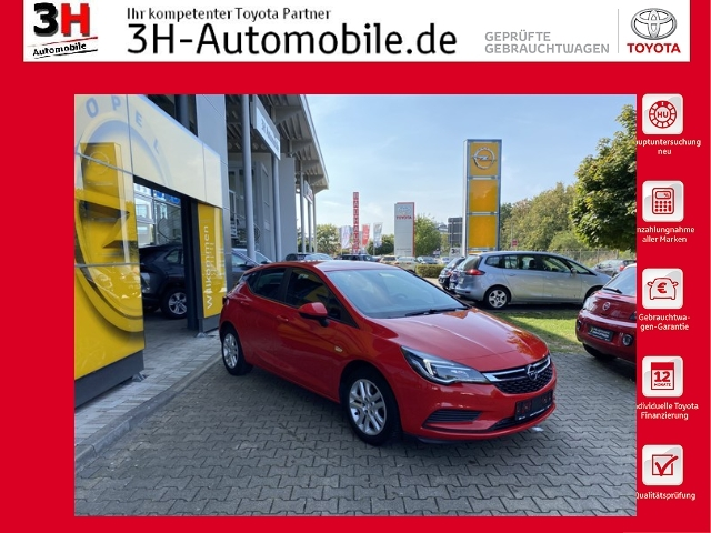 Opel Astra 1.4 TURBO EDITION *PDC*KLIMA*BT*, Jahr 2018, Benzin