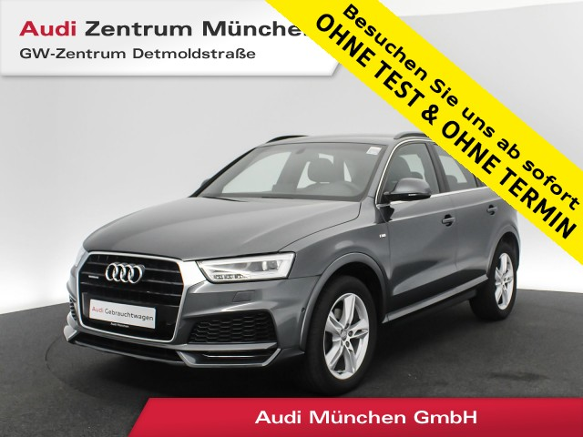 "Audi Q3 2.0 TDI qu. Sport S line Pano LED Leder Komfortpaket Parkassist18"" S tronic, Jahr 2017, diesel"