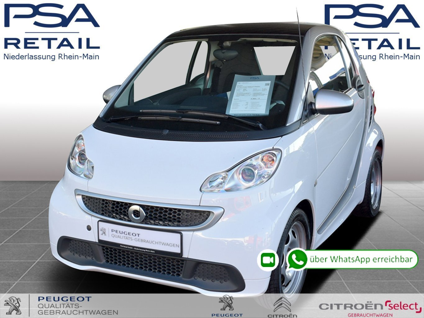 smart forTwo Coupe Softouch Passion *Nav*Bluetooth*Klima*, Jahr 2013, Benzin