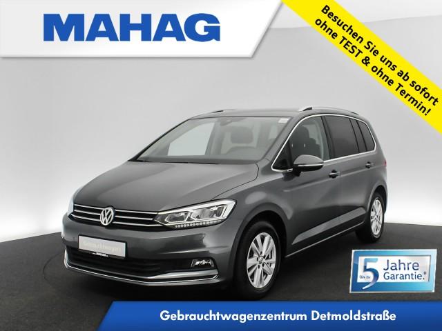 Volkswagen Touran 2.0 TDI Highline 7-Sitzer NaviPro LED Kamera eKlappe AppConnect Sitzhz. ParkAssist FrontAssist 16Zoll DSG, Jahr 2019, Diesel