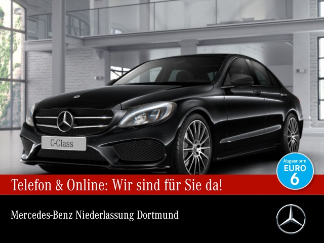 Mercedes-Benz C 220 d 4M AMG LED Night Kamera Navi PTS 9G Sitzh, Jahr 2017, Diesel