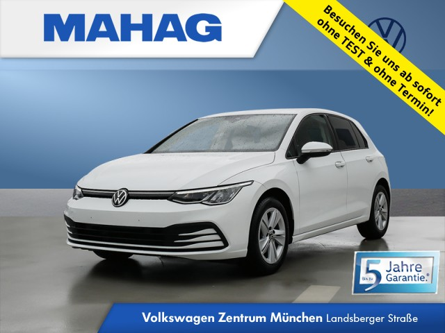 Volkswagen Golf VIII 1.5 TSI LIFE NaviPro LED DigitalCockpit AppConnect DAB+ Sitzhz. ParkPilot LightAssist FrontAssist 16Zoll 6-Gang, Jahr 2020, Benzin
