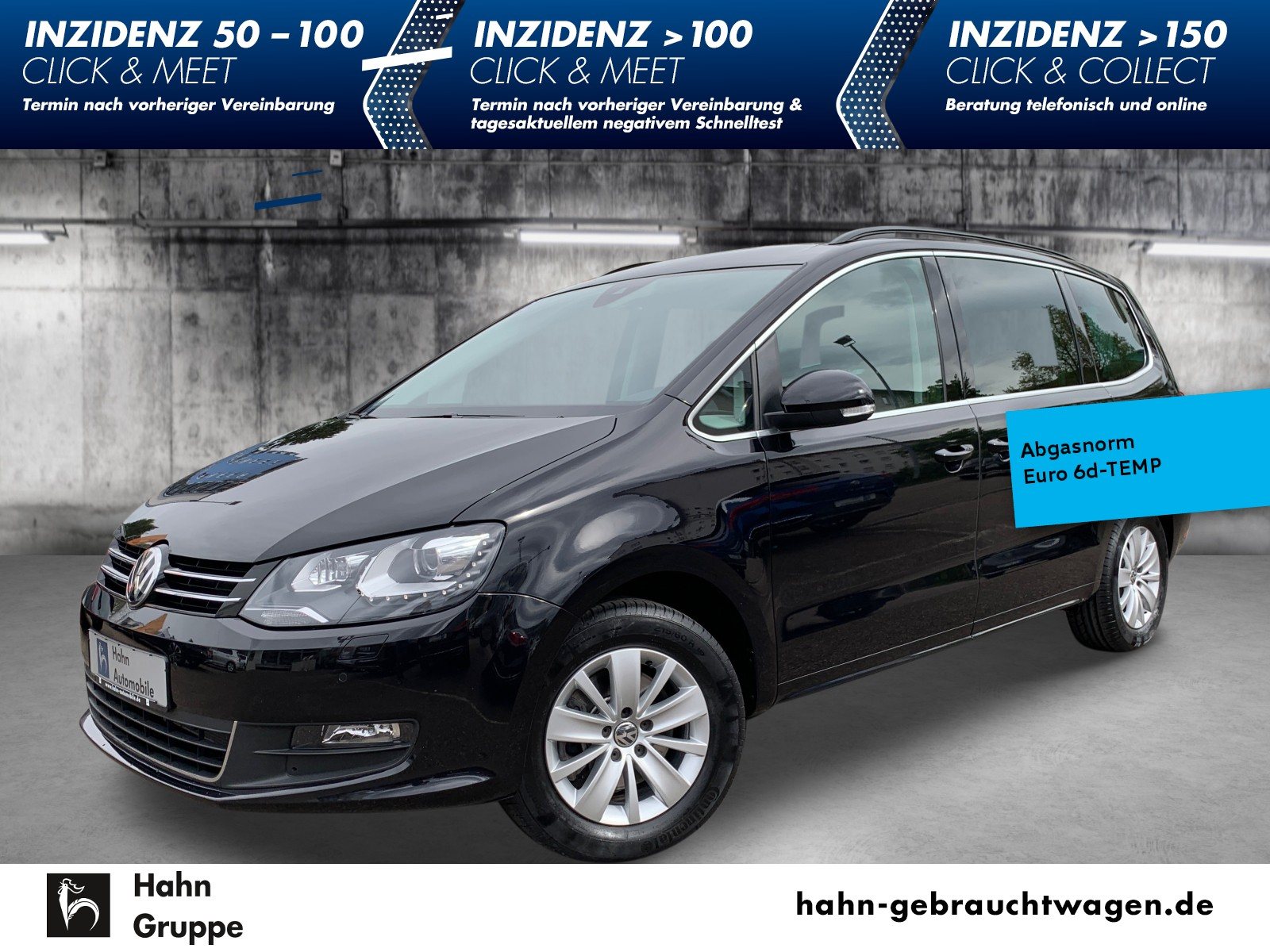 Volkswagen Sharan Comfortline 2,0TDI DSG 7-Sitz Nav Xen AHK, Jahr 2019, Diesel