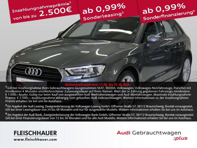 Audi A3 Sportback 30 TFSI sport Navi+connect+17''+Xenon+PDC+SHZ, Jahr 2019, Benzin