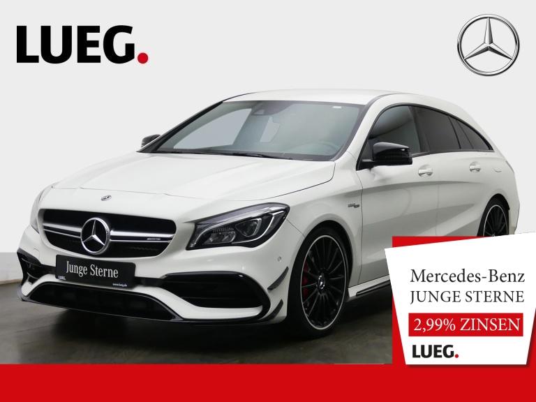 Mercedes-Benz CLA 45 AMG SB 4M COM+LED-HP+Aero+19''+AbGas+Perf, Jahr 2017, Benzin