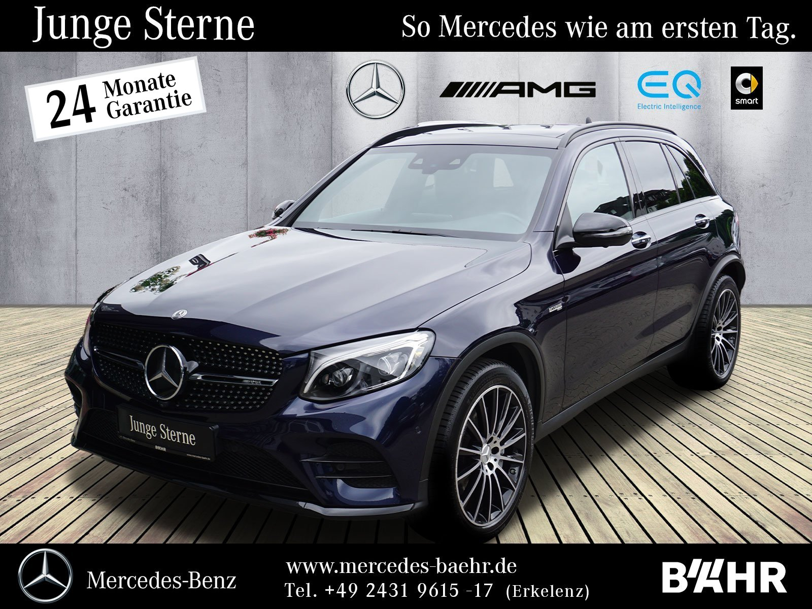 "Mercedes-Benz GLC 43 4M Night/Comand/LED-ILS/Burmester/LMR-20"", Jahr 2018, petrol"