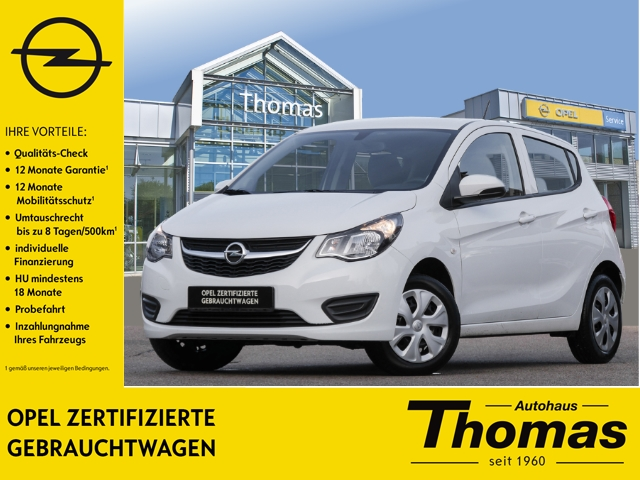 Opel Karl Edition 1.0 Klima Temp Soundsystem AUX USB MP3 ESP Seitenairb., Jahr 2015, Benzin