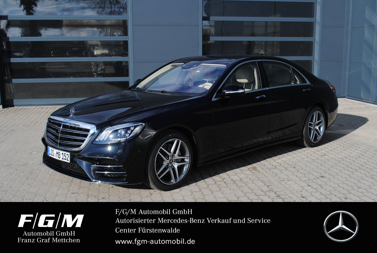 Mercedes-Benz S 450 4M lang AMG/Com/ILS/PanoD/HUD/KeyG/Distron, Jahr 2019, Benzin