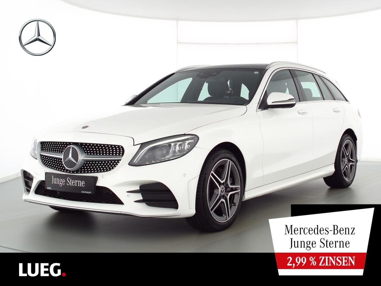 Mercedes-Benz C 220 d T 4M AMG+COM+Pano+Mbeam+AHK+SpurP+Kamera, Jahr 2020, Diesel