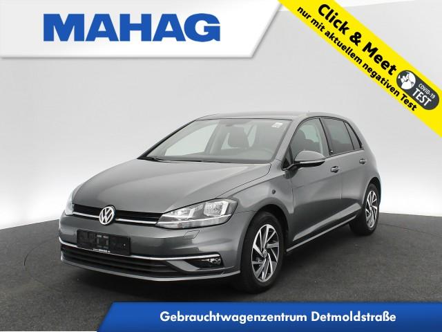 Volkswagen Golf VII 1.6 TDI SOUND Navi AppConnect Sitzhz. ParkPilot LightAssist FrontAssist 16Zoll DSG, Jahr 2018, Diesel