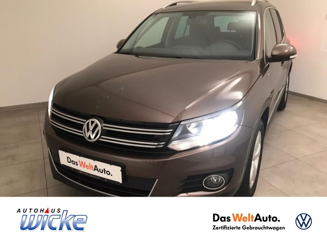 Volkswagen Tiguan 1.4 TSI DSG CUP Klimaautomatik Sitzhzg, Jahr 2014, Benzin