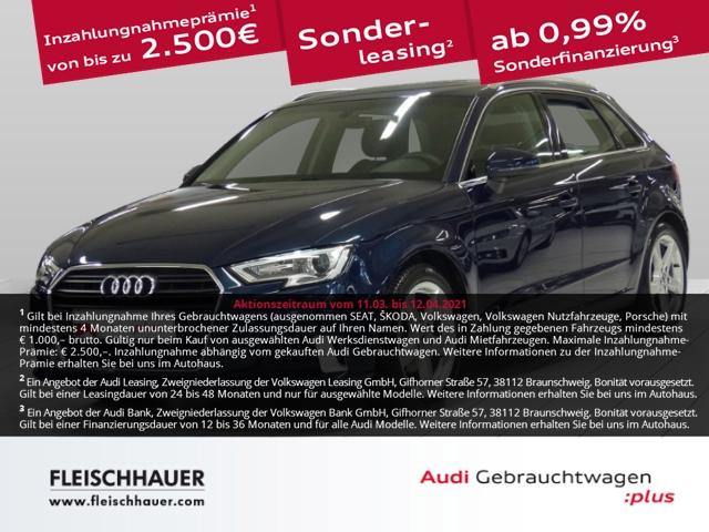 Audi A3 Sportback 30 TFSI sport Navi+connect+Xenon+WR+PDC+GRA+DAB, Jahr 2019, Benzin