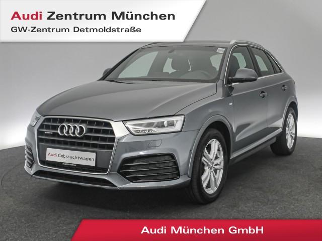 Audi Q3 2.0 TFSI qu. Sport S line LED Navi Teilleder Parkassistent S tronic, Jahr 2018, Benzin