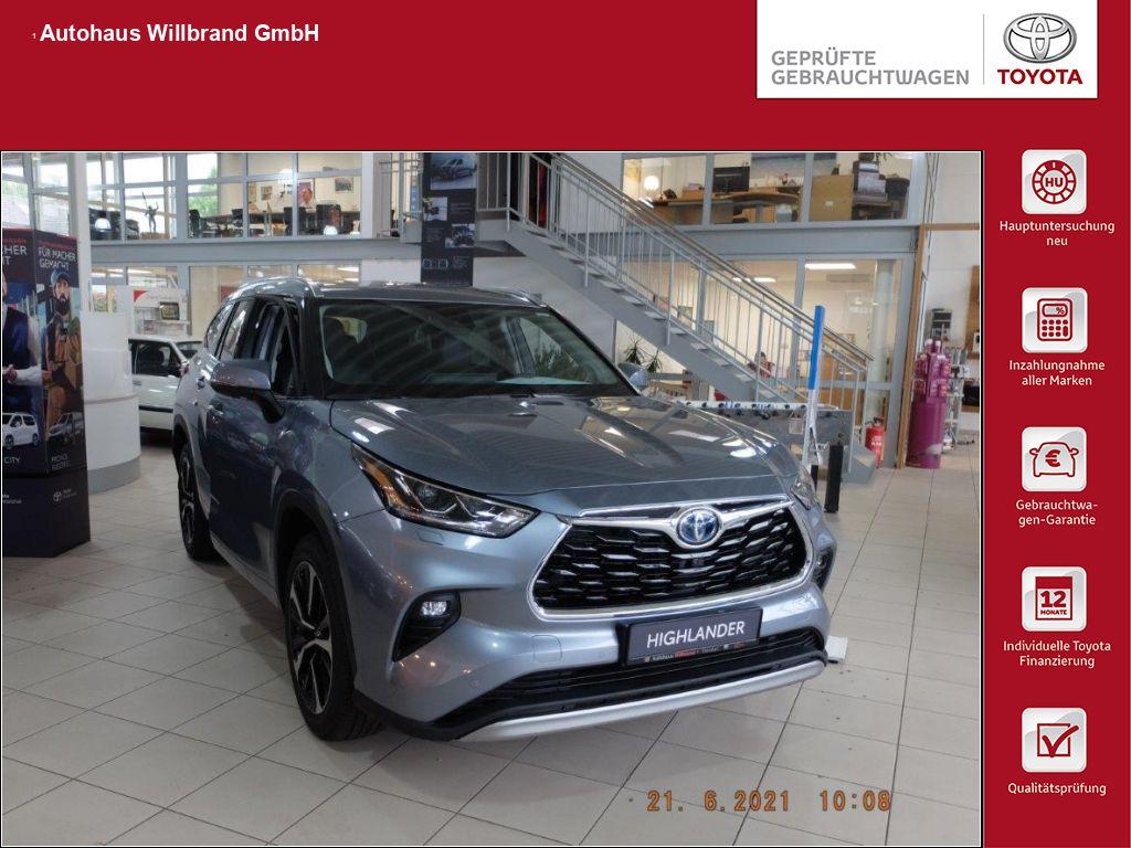 Toyota Highlander 2.5 Hybrid Luxury, 50% elektrisch ohne Stecker, Jahr 2021, Hybrid