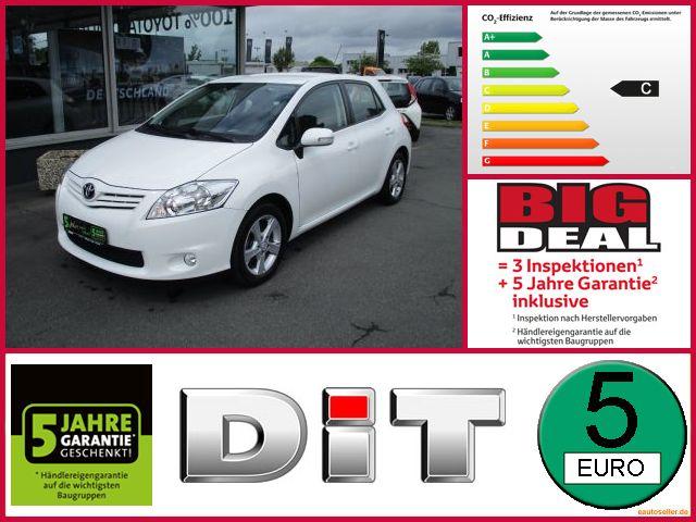 Toyota Auris 1,6 Life Klima, el. FH, AHK, Allwetter, Jahr 2012, Benzin