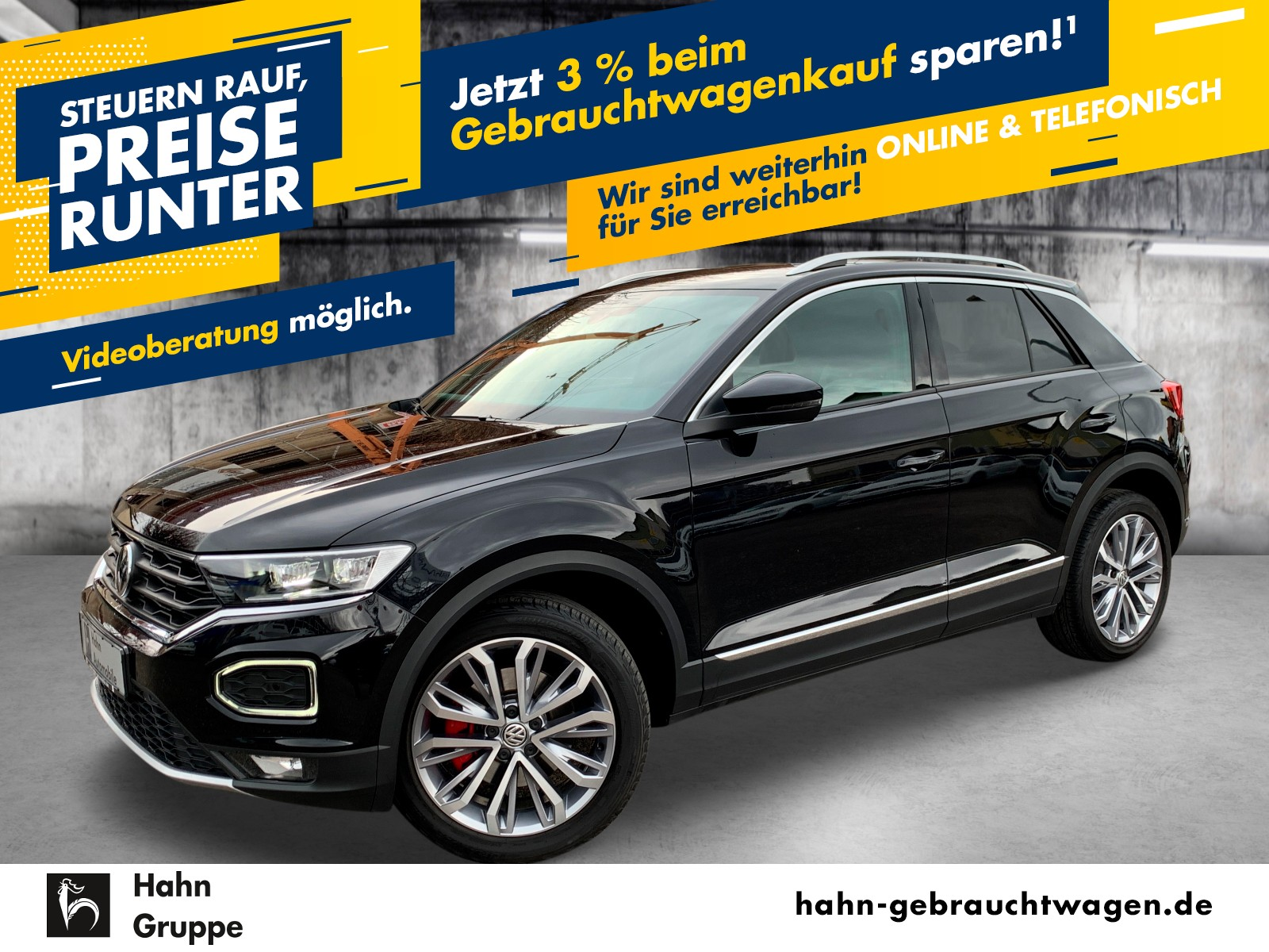 Volkswagen T-Roc Sport 1,5TSI DSG Navi ACC LED AID RFK VZE, Jahr 2019, Benzin