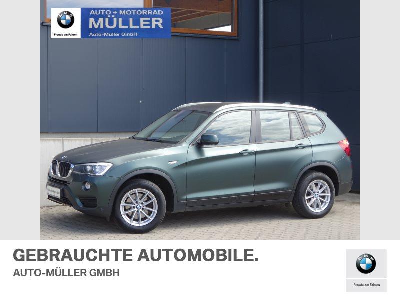 BMW X3 xDrive20d Mattgrün foliert AHK Xenon PDC, Jahr 2015, Diesel