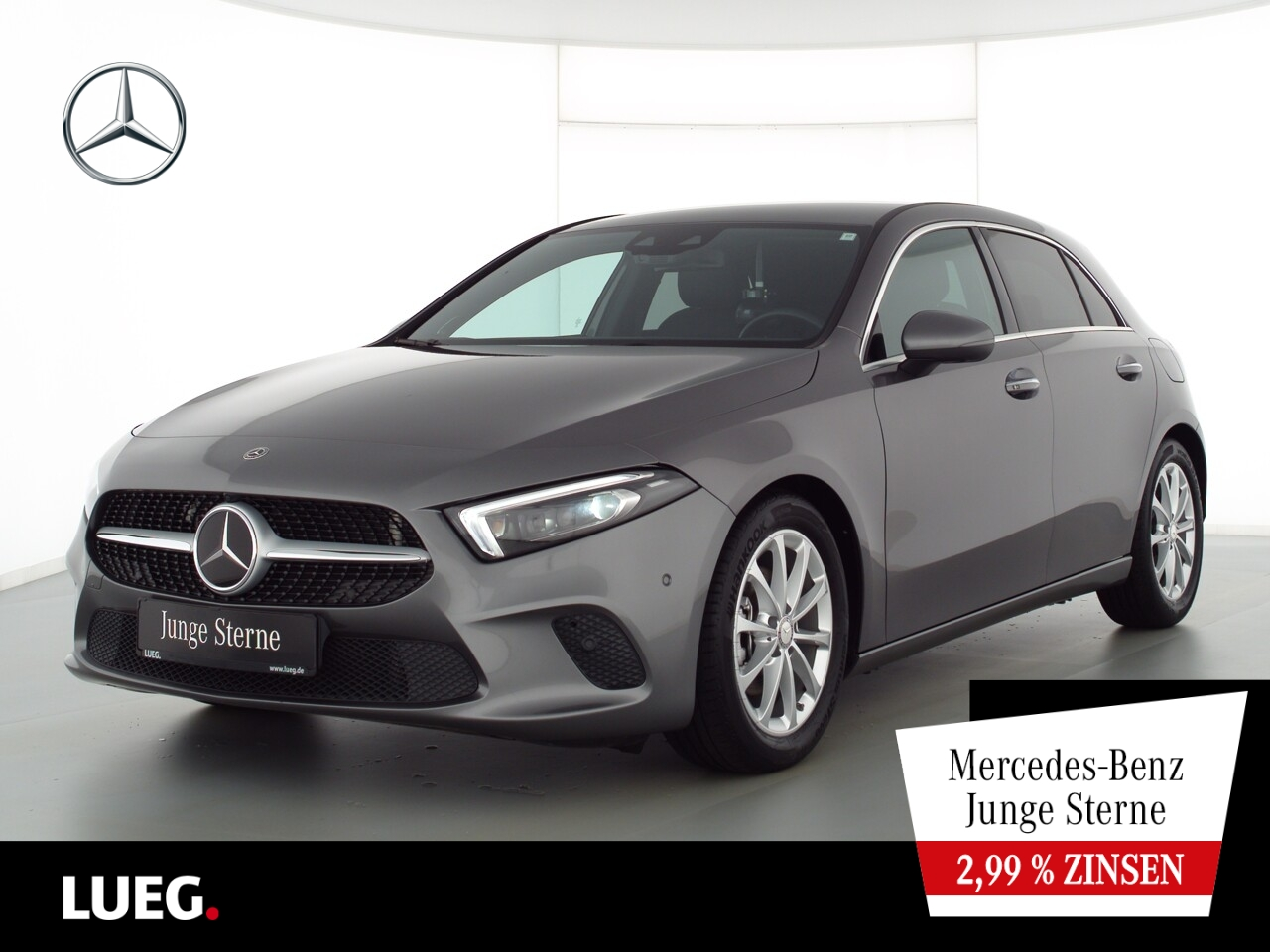 Mercedes-Benz A 180 d Progressive+MBUX+Navi+Burm+Mbeam+AHK+360, Jahr 2019, Diesel