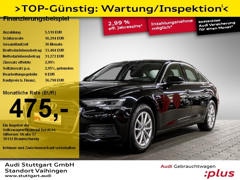 Audi A6 Limousine 40 TDI quattro LED Sitzheizung AHK, Jahr 2019, Diesel