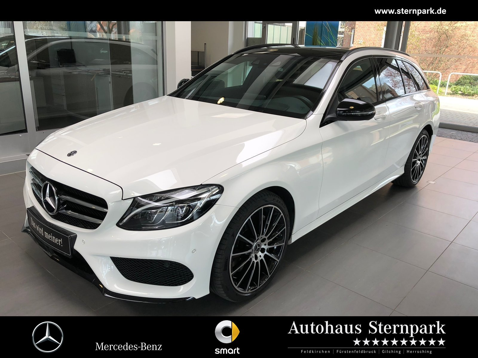 Mercedes-Benz C 400 4M T AMG Pano+HeadUp+Comand+AHK+MULTIBEAM+, Jahr 2018, Benzin