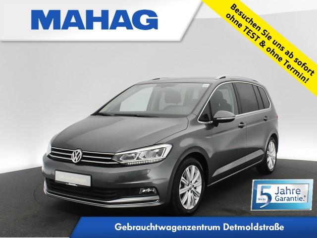 Volkswagen Touran 1.5 TSI Highline 7-Sitzer Navi LED AHK Kamera DAB+ ParkPilot FrontAssist 17Zoll DSG, Jahr 2020, Benzin